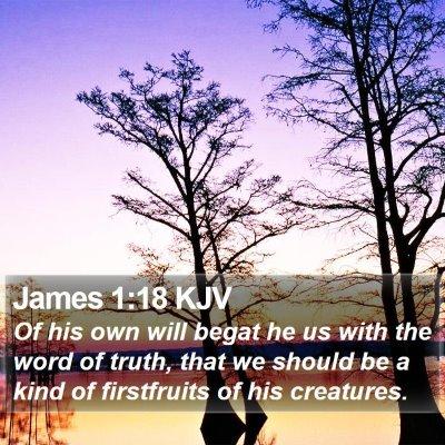 James 1:18 KJV Bible Verse Image