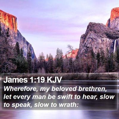 James 1:19 KJV Bible Verse Image