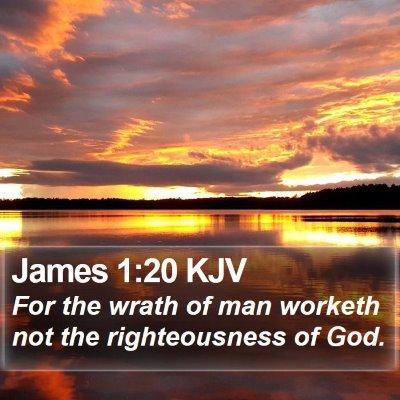 James 1:20 KJV Bible Verse Image