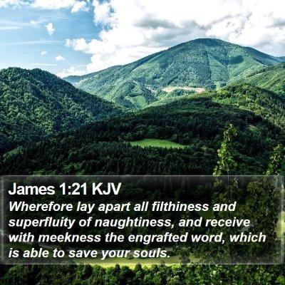 James 1:21 KJV Bible Verse Image