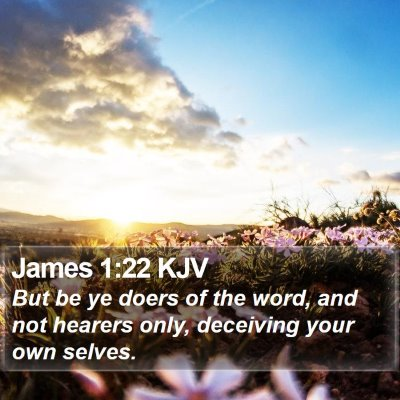 James 1:22 KJV Bible Verse Image
