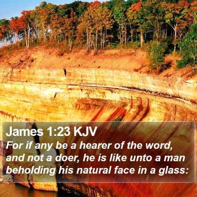 James 1:23 KJV Bible Verse Image