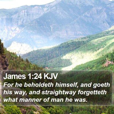 James 1:24 KJV Bible Verse Image