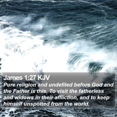 James 1:27 KJV Bible Verse Image