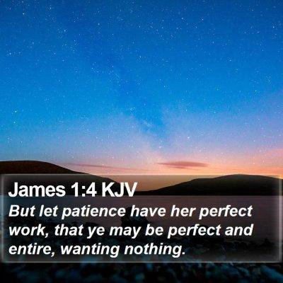 James 1:4 KJV Bible Verse Image