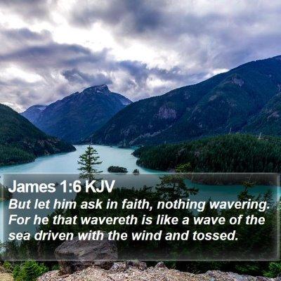 James 1:6 KJV Bible Verse Image