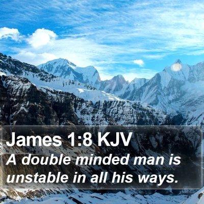 James 1:8 KJV Bible Verse Image