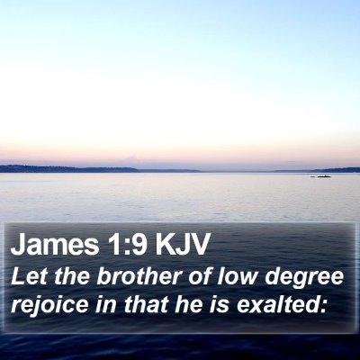 James 1:9 KJV Bible Verse Image