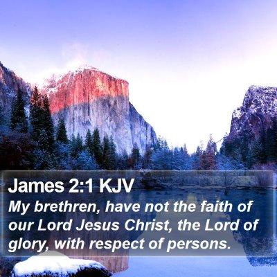 James 2:1 KJV Bible Verse Image