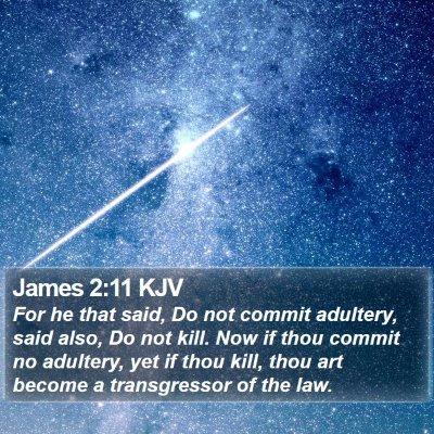 James 2:11 KJV Bible Verse Image