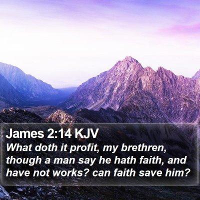 James 2:14 KJV Bible Verse Image