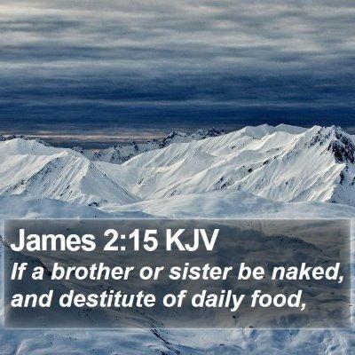 James 2:15 KJV Bible Verse Image