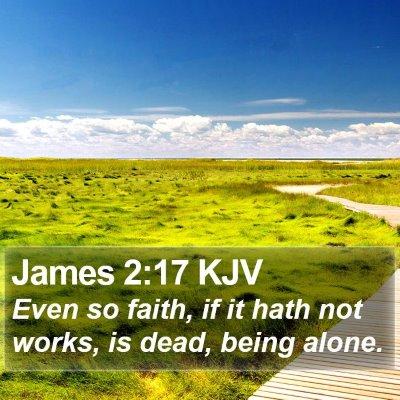 James 2:17 KJV Bible Verse Image