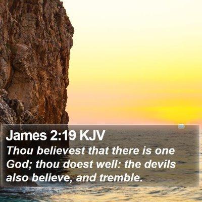 James 2:19 KJV Bible Verse Image