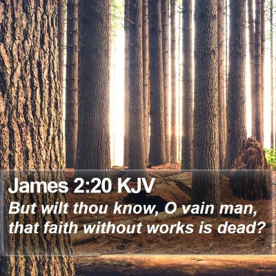 James 2:20 KJV Bible Verse Image