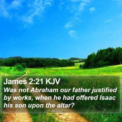 James 2:21 KJV Bible Verse Image