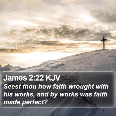 James 2:22 KJV Bible Verse Image