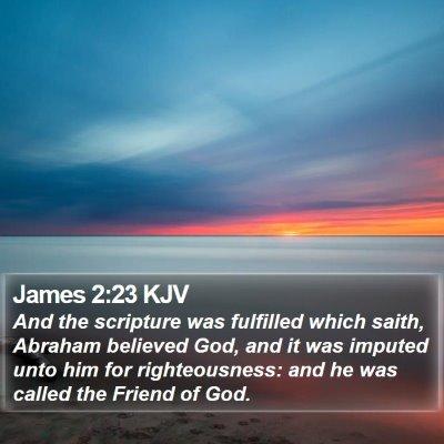 James 2:23 KJV Bible Verse Image
