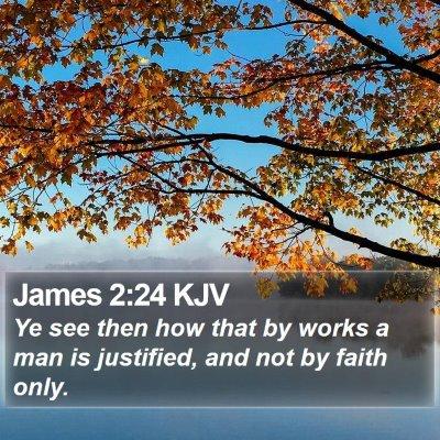 James 2:24 KJV Bible Verse Image