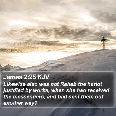 James 2:25 KJV Bible Verse Image