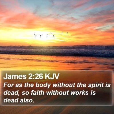 James 2:26 KJV Bible Verse Image