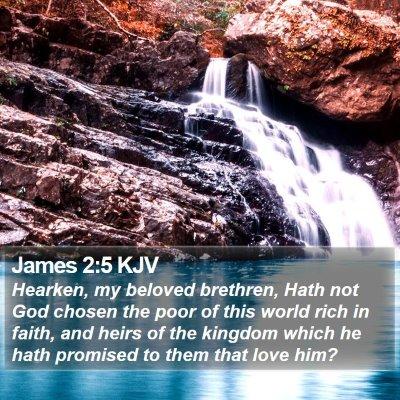 James 2:5 KJV Bible Verse Image