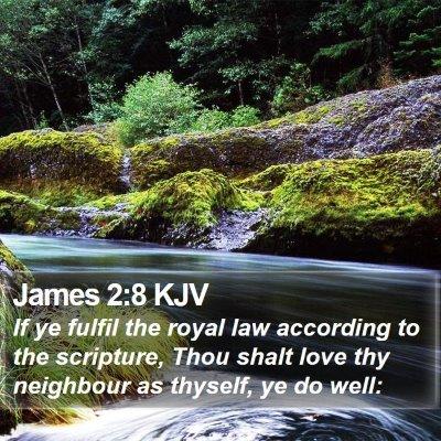 James 2:8 KJV Bible Verse Image