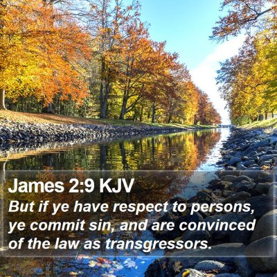 James 2:9 KJV Bible Verse Image