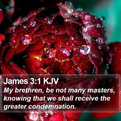 James 3:1 KJV Bible Verse Image