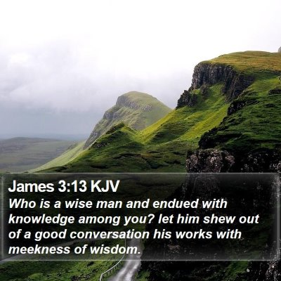 James 3:13 KJV Bible Verse Image