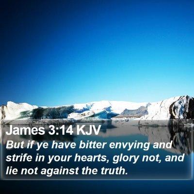 James 3:14 KJV Bible Verse Image