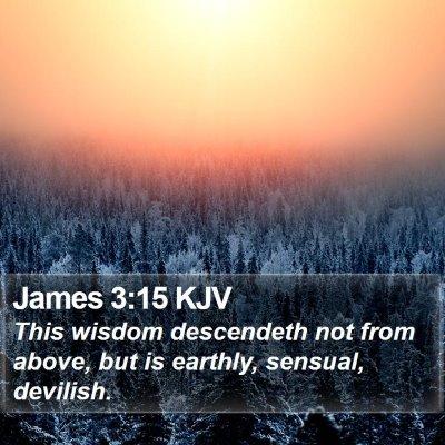 James 3:15 KJV Bible Verse Image