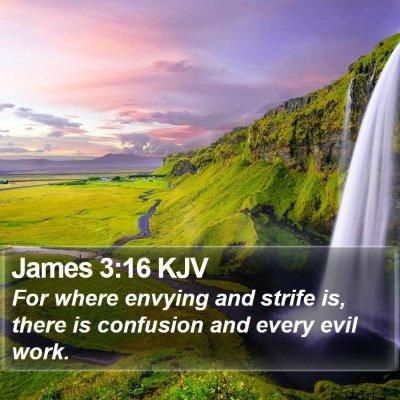James 3:16 KJV Bible Verse Image