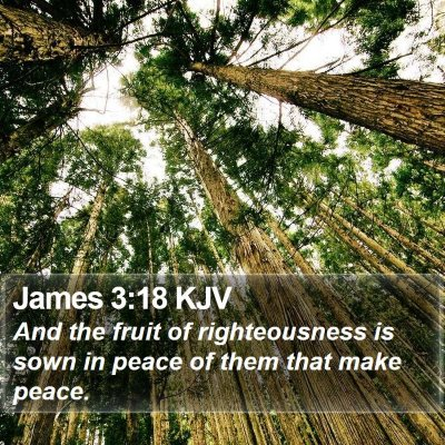 James 3:18 KJV Bible Verse Image