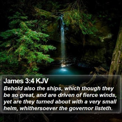 James 3:4 KJV Bible Verse Image