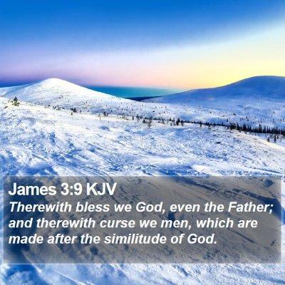 James 3:9 KJV Bible Verse Image