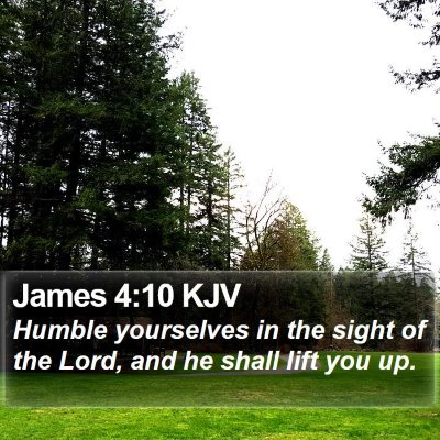 James 4:10 KJV Bible Verse Image