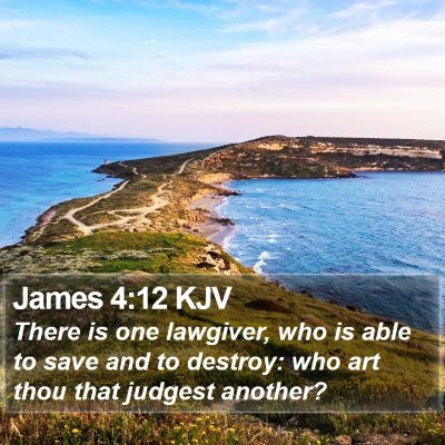 James 4:12 KJV Bible Verse Image