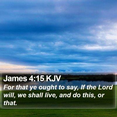 James 4:15 KJV Bible Verse Image