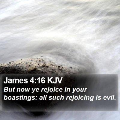 James 4:16 KJV Bible Verse Image