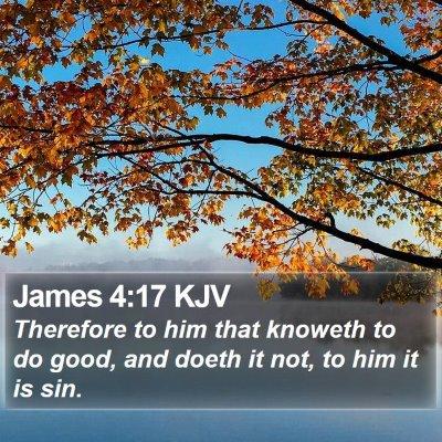 James 4:17 KJV Bible Verse Image