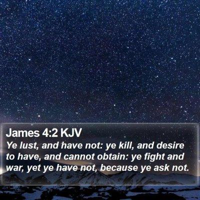 James 4:2 KJV Bible Verse Image