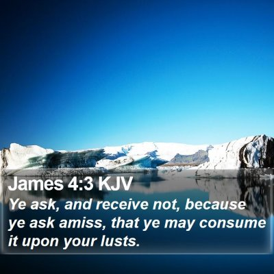 James 4:3 KJV Bible Verse Image