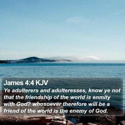 James 4:4 KJV Bible Verse Image