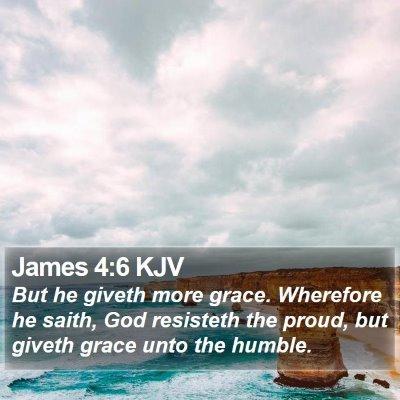 James 4:6 KJV Bible Verse Image