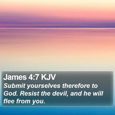 James 4:7 KJV Bible Verse Image