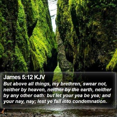 James 5:12 KJV Bible Verse Image