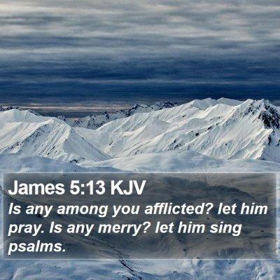 James 5:13 KJV Bible Verse Image