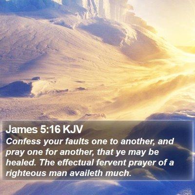 James 5:16 KJV Bible Verse Image