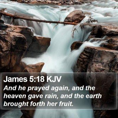 James 5:18 KJV Bible Verse Image